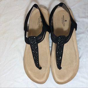 """Bandolino Black """"Honour"""" rhinestone Sandals Sz 11"""